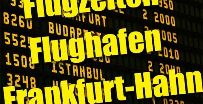 Abflugs- und Ankunftszeiten Flughafen Frankfurt-Hahn